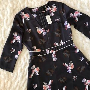 NWT Banana Republic Deep V A-Line Floral Dress